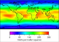 Solar Insolation map of the World